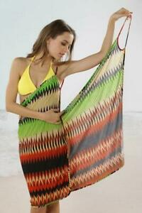 Women Beach Crossover Beach Wrap Cover-up Sarong Size UK6-10