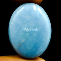Cts. 28.65 Natural Blue Angelite Cabochon Oval Cab Loose Exclusive Gemstone