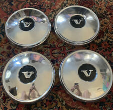 4 Vintage Volvo OEM Dog Dish Center Hub Caps  (SVM37 B)