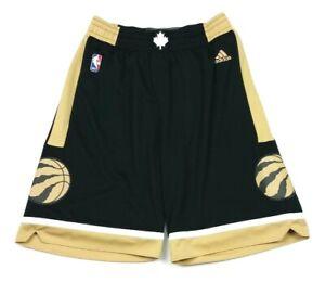 Adidas NBA 2015 Toronto Raptors Black Gold Alternate Basketball Shorts Medium