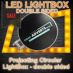 LED Round LightBox double sided 90cm
