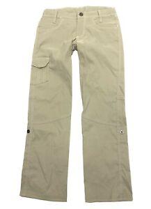 KUHLKliffside Pants Girls Size M - 10 Khaki Beige Nylon Roll Up Hiking Outdoors
