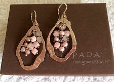 NEW (Ex Display) Silpada Sterling Silver Blush Grape Earrings W2211