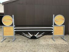 Black, White and Silver Sunrise Aluminium Show jump Fillers-For Showjumping