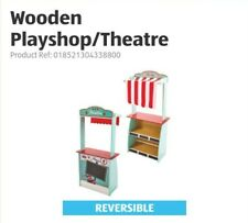 ⭐Little Town Wooden Roleplay Play Shop and Theatre and 2 Puppets ⭐