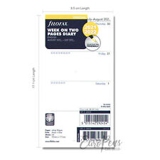 Filofax Mid Year Personal 2021 2022 Academic Week Two Pages Diary Refill 2268452