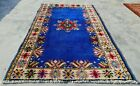 Authentic Hand Knotted Vintage Morocco Wool Area Rug 5 x 3 Ft (11586 KBN)