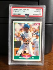 1989 Score Traded Ken Griffey Jr. Mariners Rookie Card #100T PSA 10 Gem Mint
