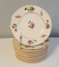 """SET OF 12 SYRACUSE OLD IVORY """"SELMA"""" PATTERN BREAD & BUTTER PLATES"""