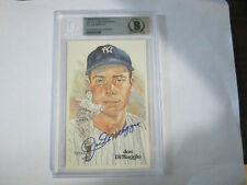 1980 Joe Dimaggio Autograph Perez Steele Post Card Beckett Slabed Yankees