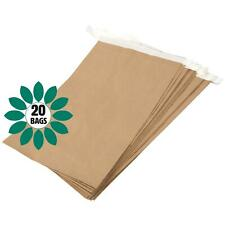 More details for eco friendly paper mailing manilla brown bag/sack - 330 x 100 x 485mm - 20 bags