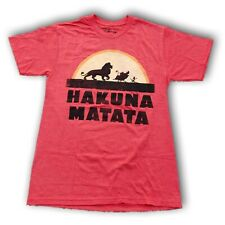 "Disney Lion King ""The Lion King"" ""Hakuna Matata"" Men's Red Short Sleeve T-shirt"
