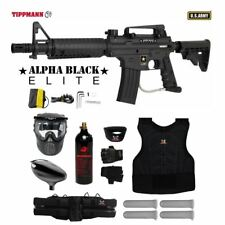 Tippmann US Army Alpha Elite Tactical Protective CO2 Paintball Gun Package