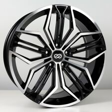 18x8 Enkei CUV 5x108 +40 Black Machined Rims Fits Focus Svt Escort