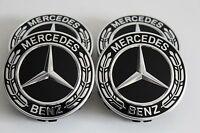 original Mercedes Raddeckel Nabendeckel Kappen Amg Loorbeerkranz schwarz 4x =St