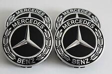 4x original Mercedes Nabendeckel Loorbeerkranz Neue Version Amg W204 W212 W222