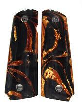 Copper & Black Pearl 1911 Grips Colt Kimber Remington Sig Taurus Springfield
