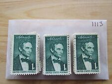 # 1113 x 100 Used US Stamps  Abraham Lincoln Issue  see our other lots