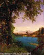 South and North Moat Mountains by Bierstadt 8x10 Print Landscape River Art 0052