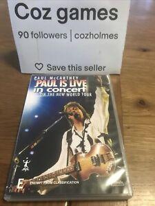 PAUL McCARTNEY PAUL IS LIVE ON THE NEW WORLD TOUR DVD AUSTRALIAN RELEASE