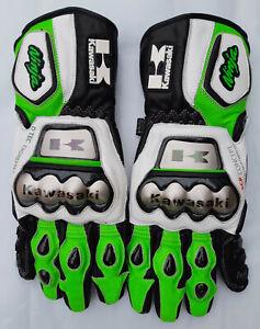 Kawasaki Motorbike MotoGP Racing Leather Gloves