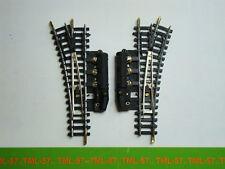 Voie JOUEF N - Code 80 - Aiguille Aiguillage electrique ref N8889 TBE - Lot de 6
