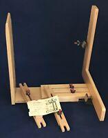 Needle-Easel Adjustable Hands-Free Wood Needlework Lap Stand Vintage 1972
