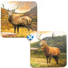 Scottish STAG Mug Cup Coasters - Set of 4 Boxed Scotland Highlands Leonardo BNIB