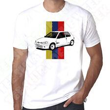 Peugeot 106 Rallye Stripe Mens White Tshirt - Personalised plate available