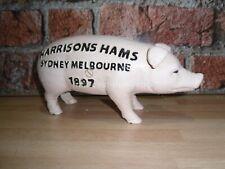 Cast Iron Harrison Hams Pig Money Bank