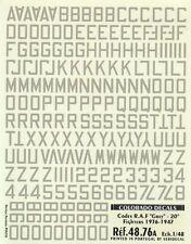 """Colorado Decals 1//48 Codes RAF Grey 48/"""" Bombers 1936-1947 # 48078"""