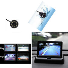 """Flodable 4.3"""" 2.5W Car Dispaly Monitor + Infrared Night Vision Camera Belt Drill"""