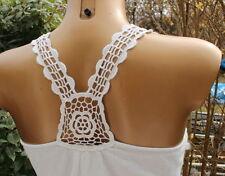 Esprit Sommer  Kleid creme-weiß 36 38  Träger Häkel top zustand
