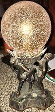Beautiful Antique Art Deco Figural Frankart Lamp & Shade