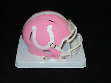 INDIANAPOLIS COLTS Officially Licensed NFL PINK SPEED MINI HELMET - New in Box