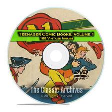 Teenager Comic Books, Vol 1, A1 Comics, The Funnies, TV Teens Golden Age DVD D54
