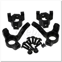 2xBlack SCX0002 SCX0001 C-Hub+Steering Hub Carrier L/R for AXIAL RC1:10 Car