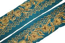 Vintage Trim Indian Ribbon Saree Border Embroidered Trim Sari Trim By 1Yd ST2026