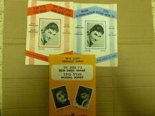 "LOT 3 RIKA ZARAI PIC ON MUSICAL SHEET COVER 1950"" ISRAEL"