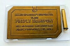 Firefly Loot Crate Dedication Plaque Serenity Bridge 2016 Sci Fi Cosplay