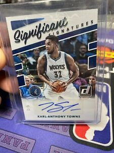 Karl-Anthony Towns 2017-18 Donruss Significant Signatures Auto /5 EMERALD Wolves