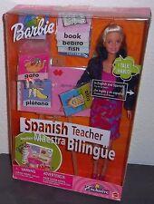 BARBIE Doll SPANISH TEACHER Maestra ~KeyChain ~ SHE SPEAKS ~2000 ~ # 29408 ~NRFB