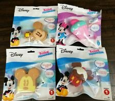 Disney Kawaii Squeezies Mickey & Minnie Mouse Series 1 Food Plush Toy - Set of 4