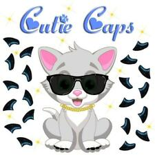 Cutie Caps 40 pack Midnight Black Soft Nail Defense Guard for Cat Paws / Claws