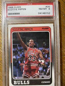 1988 Fleer Scottie Pippen Rookie Card #20 PSA 8 HOF!!! MVP!!!