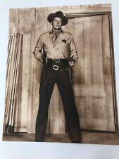 Vintage RONALD REAGAN Cowboy HAT Is Marshall Movie Guns Sepia 14 X11 Young Movie