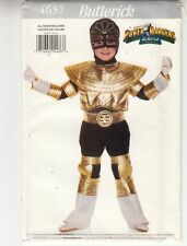 Butterick 4657 Zeo Power Rangers Costume Jumpsuit Hood Mask Sewing Pattern 4-14