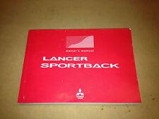 Mitsubishi CJ Lancer Sportback Owners Manual MY2010