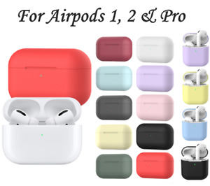 Case For Apple AirPods 1 2 & Pro Silicone Slim Shockproof protector Cute Cover