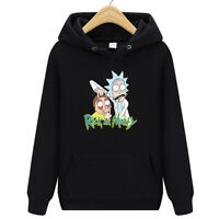 Men Women Rick Morty Hoodie Sweater Skateboard Solid Sweatshirts Pullover Coat